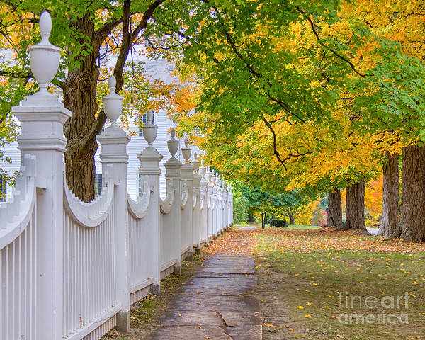 Photograph - Old First Church Fence by Rod Best