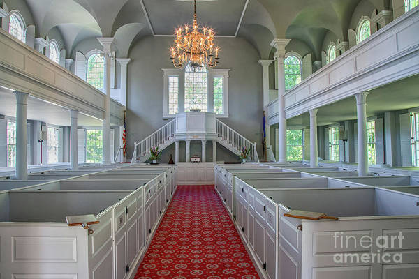 Photograph - Old First Church Interior by Rod Best