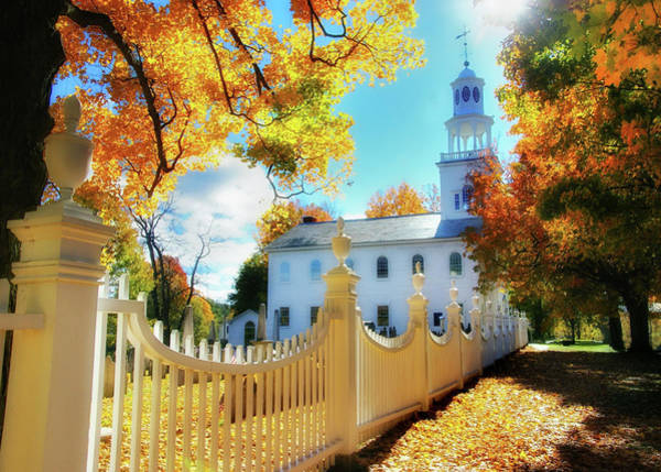 Photograph - Old First Church Of Bennington by T-S Fine Art Landscape Photography