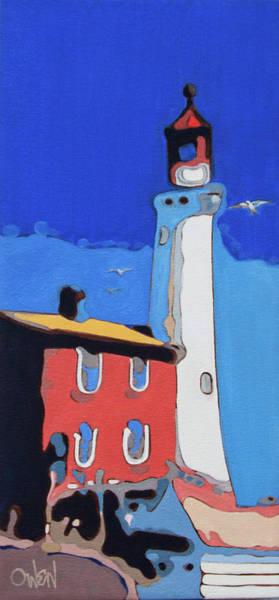 Painting - Old Fisgard Light by Rob Owen