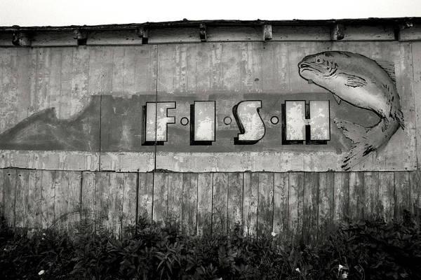 Old Fish Market Sign, Halifax - Nova Scotia Canada Art Print