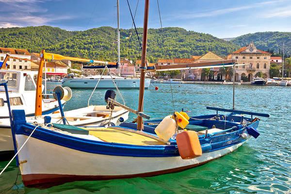 Starigrad Photograph - Old Fishermen Harbor Of Stari Grad by Brch Photography