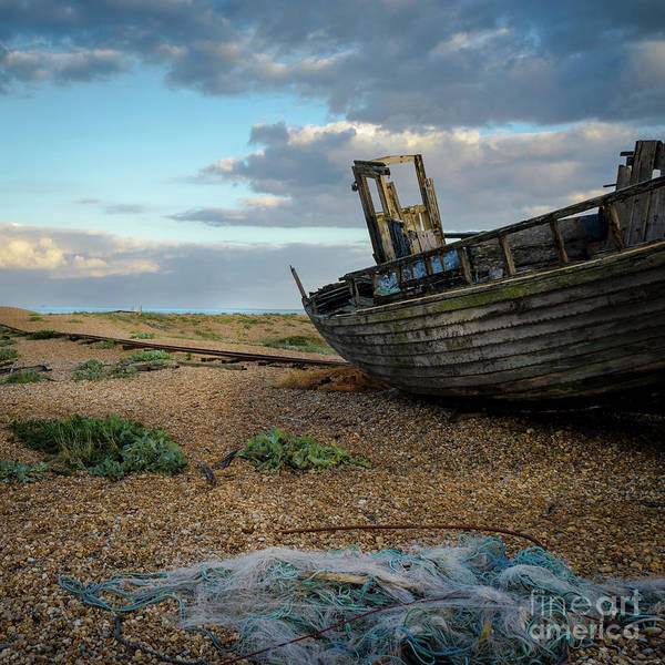 Photograph - Old Fishing Boat, Dungeness  by Perry Rodriguez