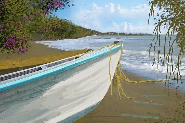 Mangroves Digital Art - Old Fishing Boat by Tony Rodriguez