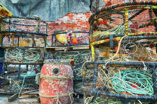 Astoria Photograph - Old Fishing Gear by Paul Quinn