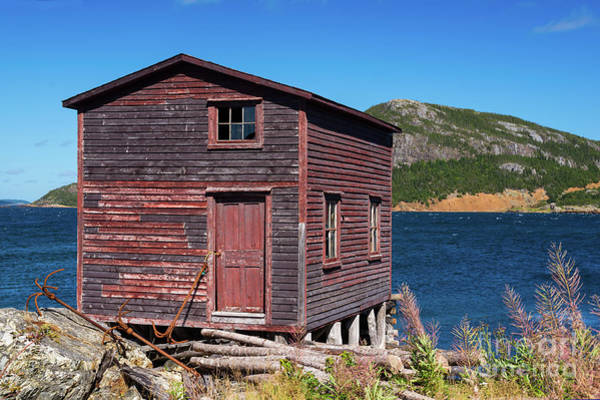 Photograph - Old Fishing Stage by Les Palenik