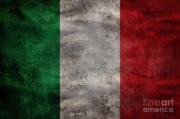 Wall Art - Photograph - Old Flag Of Italy by Jon Neidert