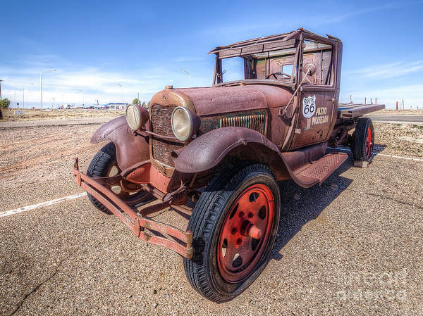 Santa Rosa Photograph - Old Flatbed Along Route 66 by Twenty Two North Photography