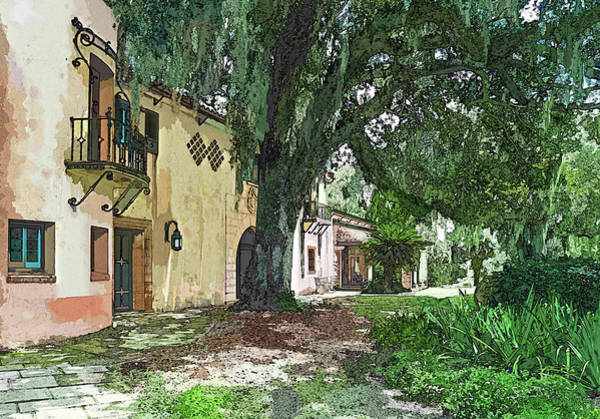 Photograph - Old Florida In Watercolor by Susan Molnar