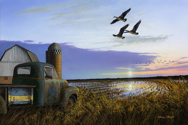 Painting - Old Fly By by Anthony J Padgett