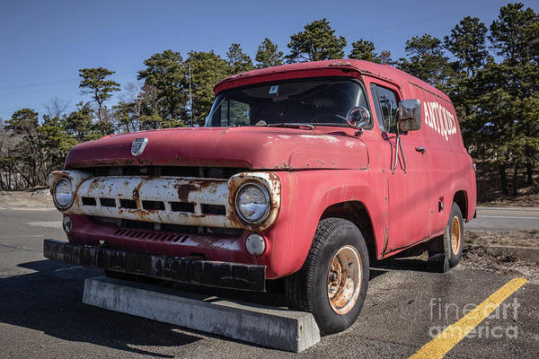 Photograph - Old Ford Antiques Van Cape Cod by Edward Fielding