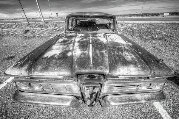 Edsel Photograph - Old Ford Edsel On Route 66 by Twenty Two North Photography