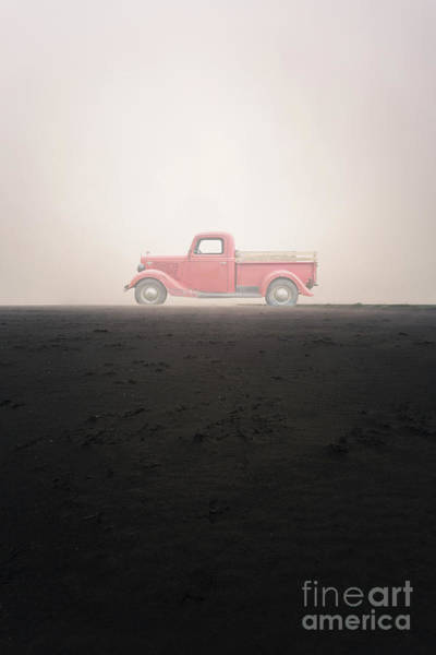 Wall Art - Photograph - Old Ford Pick Up Truck In The Mist by Edward Fielding