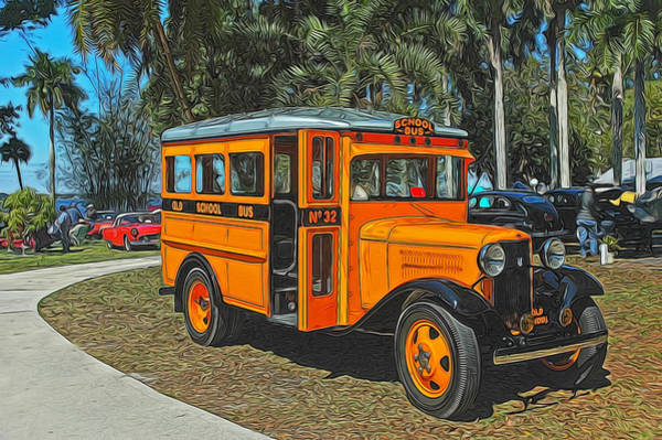 Photograph - Old Ford School Bus No. 32 by Ginger Wakem