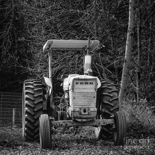 Old Farm Equipment Photograph - Old Ford Tractor Chelsea Vermont by Edward Fielding