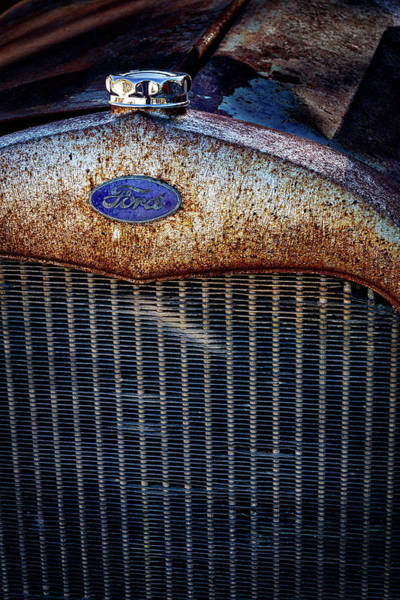 Clunker Wall Art - Photograph - Old Ford Tractor Grill by Stuart Litoff