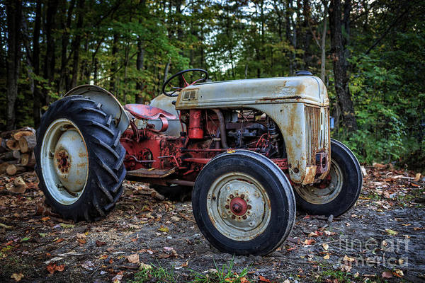 Photograph - Old Ford Tractor Springfield New Hampshire by Edward Fielding