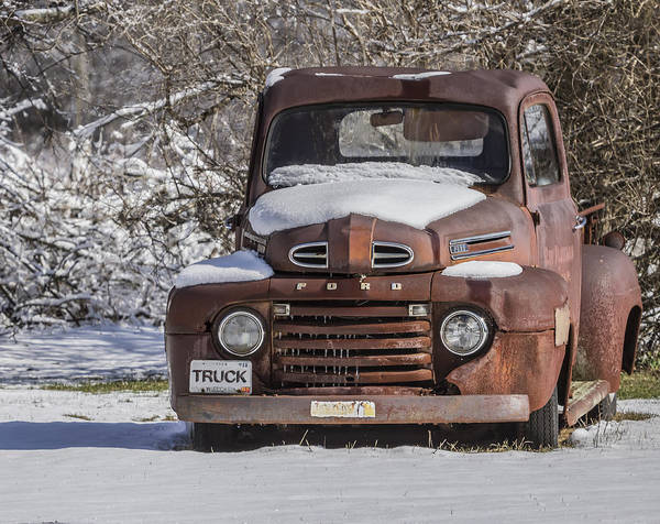 Photograph - Old Ford Truck 2014-1 by Thomas Young