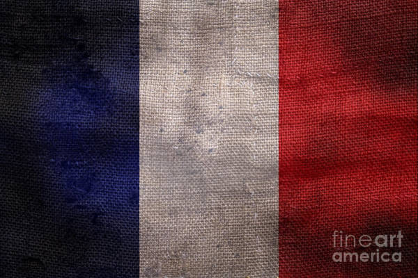 Wall Art - Photograph - Old French Flag by Jon Neidert
