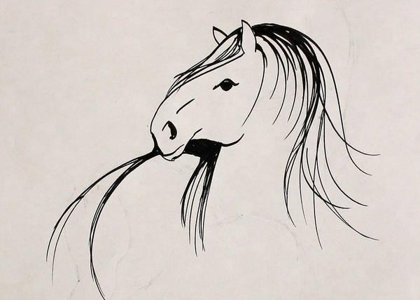 Warmbloods Drawing - Old Friend by Jennifer Fosgate