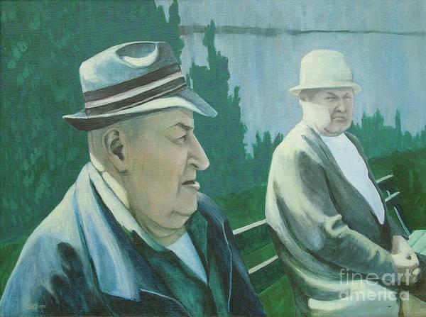 Simon And Garfunkel Painting - Old Friends by Susan Lafleur