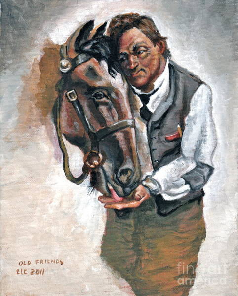 Horsemanship Painting - Old Friends by Theresa Cangelosi