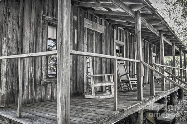 Photograph - Old Front Porch by Judy Hall-Folde