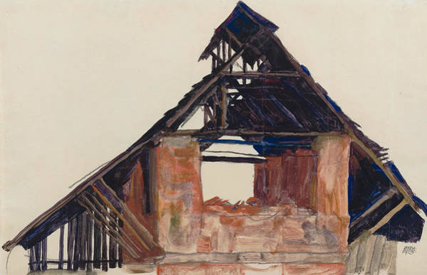 Drawing - Old Gable by Egon Schiele