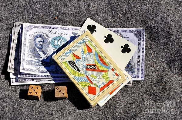 Antic Photograph - Old Gambling Articles by David Lee Thompson