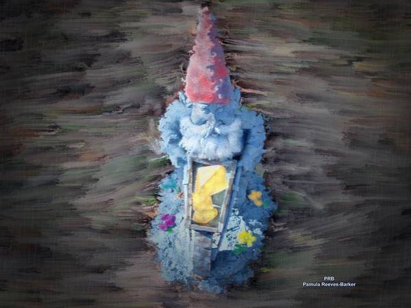 Prb Mixed Media - Old Garden Gnome by Pamula Reeves-Barker
