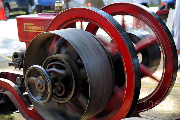 Digital Art - Old Gas Engine With Digital Effects by William Kuta