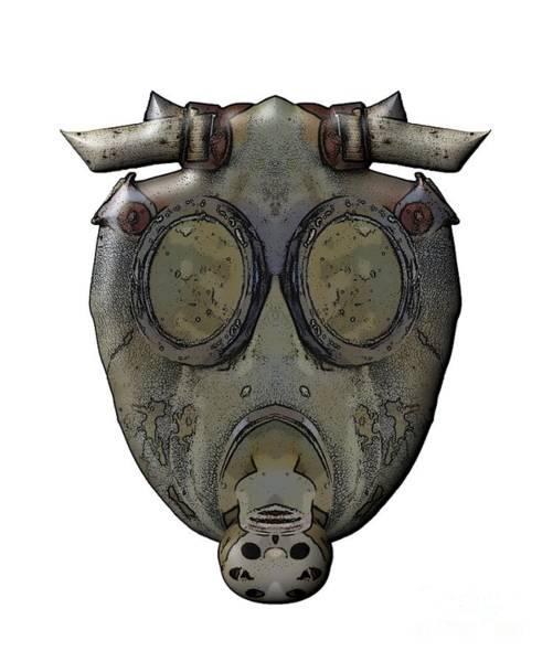 Wall Art - Digital Art - Old Gas Mask by Michal Boubin