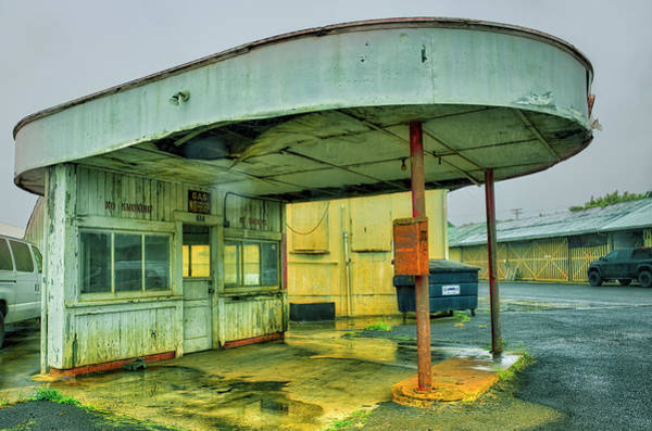 Photograph - Old Gas Station by Jim Thompson