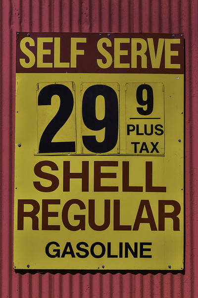 Gasoline Wall Art - Photograph - Old Gasoline Sign by Garry Gay