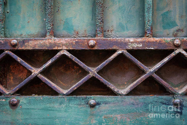 Wall Art - Photograph - Old Gate Geometric Detail by Elena Elisseeva