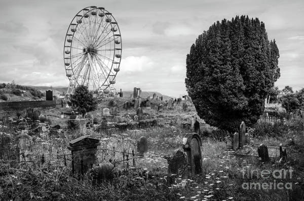 Wall Art - Photograph - Old Glenarm Cemetery And Big Wheel Bw by RicardMN Photography