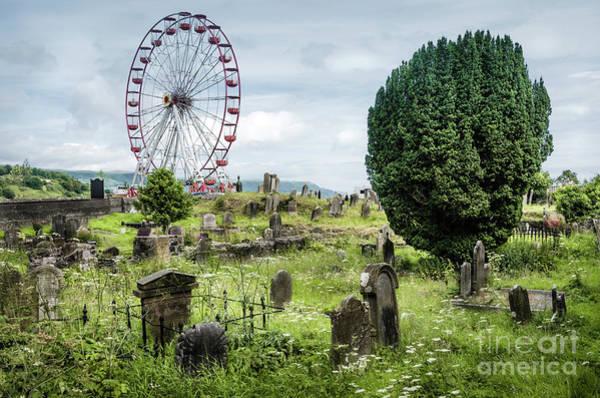 Wall Art - Photograph - Old Glenarm Cemetery And Big Wheel  by RicardMN Photography