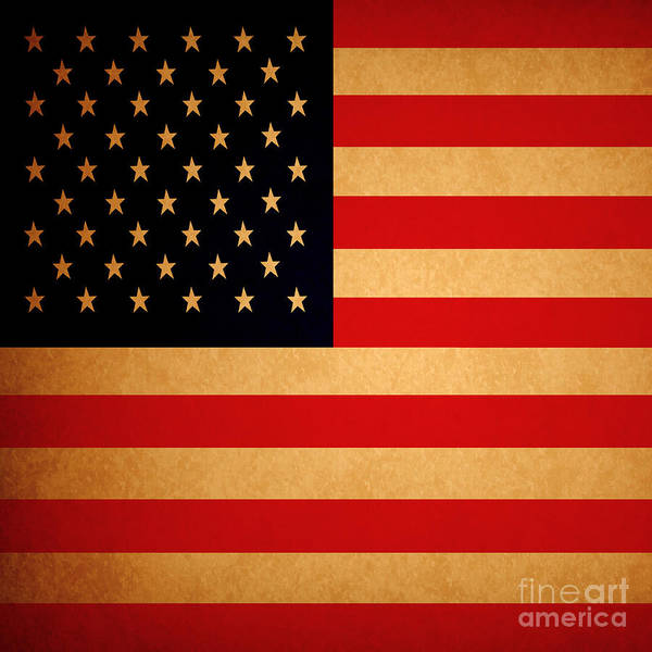 Photograph - Old Glory . Square by Wingsdomain Art and Photography