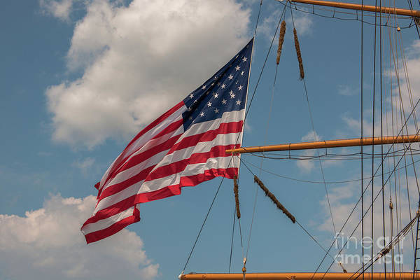 Photograph - Old Glory Flying Over Eagle by Dale Powell