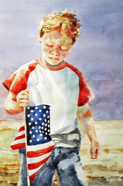 Painting - Old Glory Forever Young by Diane Fujimoto