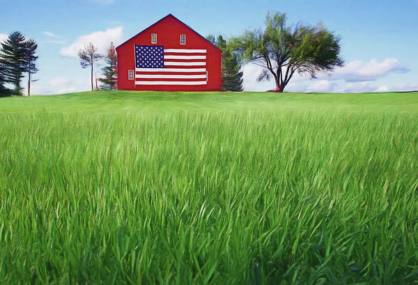 Old Glory Photograph - Old Glory On The Rise by Nikolyn McDonald