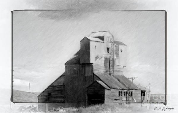 Drawing - Old Grain Elevator by Chris Armytage