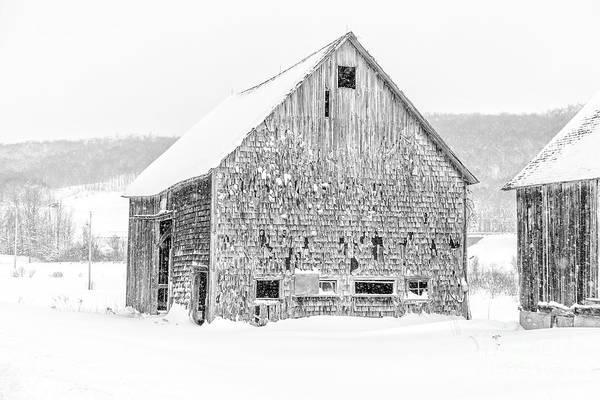 Wall Art - Photograph - Old Grantham Barns Winter by Edward Fielding
