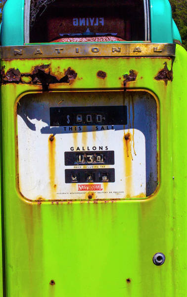 Wall Art - Photograph - Old Green Gas Pump by Garry Gay