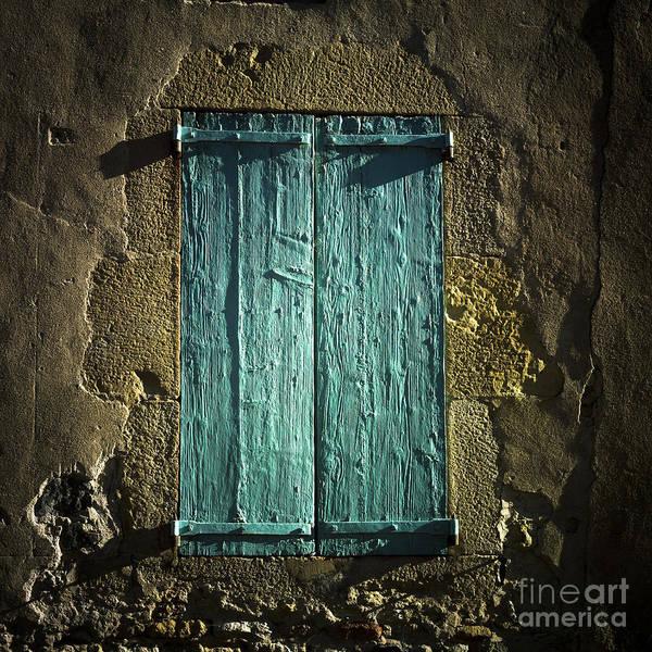 Wall Art - Photograph - Old Green Shutters Closed by Bernard Jaubert