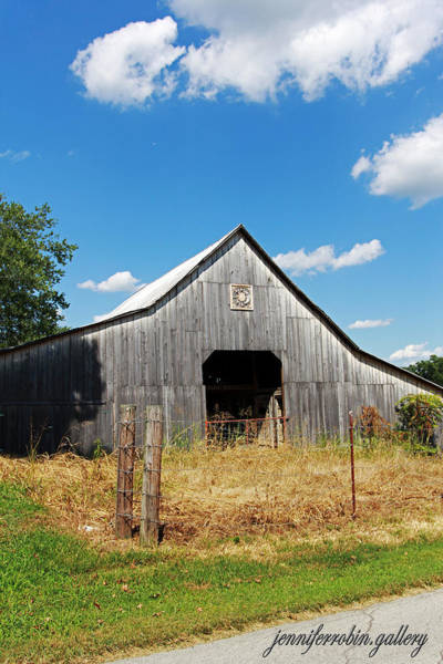 Photograph - Old Grey Barn by Jennifer Robin