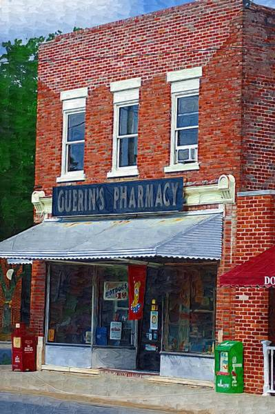 Photograph - Old Guerins Pharmacy by Donna Bentley