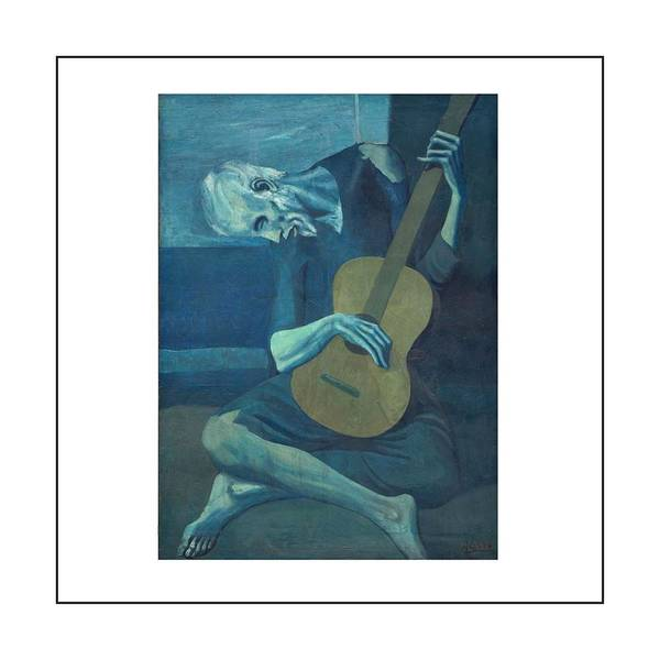 Old Guitarist Art Print