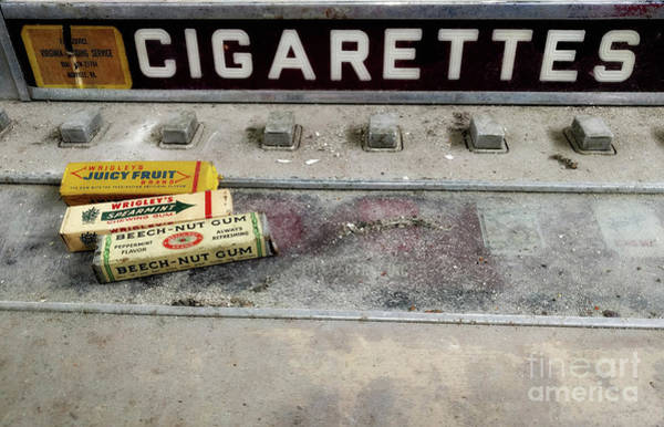 Wall Art - Photograph - Old Gum And Cigarettes  by Steven Digman
