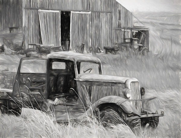 Wrecking Yard Photograph - Old H D Dodge Brothertruck by Wes and Dotty Weber